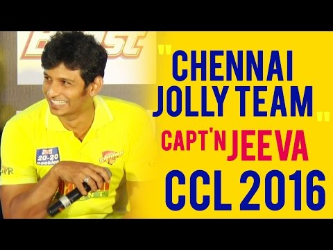 """We are a Jolly team"" - Jeeva Funny Speech - CCL 2016 