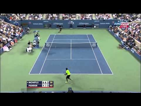 Federer vs Monfils Us open 2014 Highlights HD