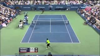 Federer vs Monfils Us open 2014 Highlights HD