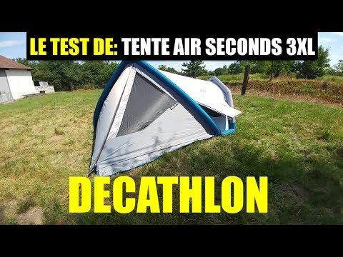 le test de tente de camping air seconds 3xl quechua decathlon gonflable youtube. Black Bedroom Furniture Sets. Home Design Ideas