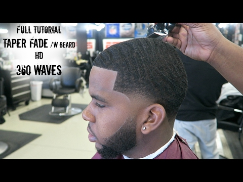 Tutorial: How to Cut 360 Waves Taper Fade With Beard