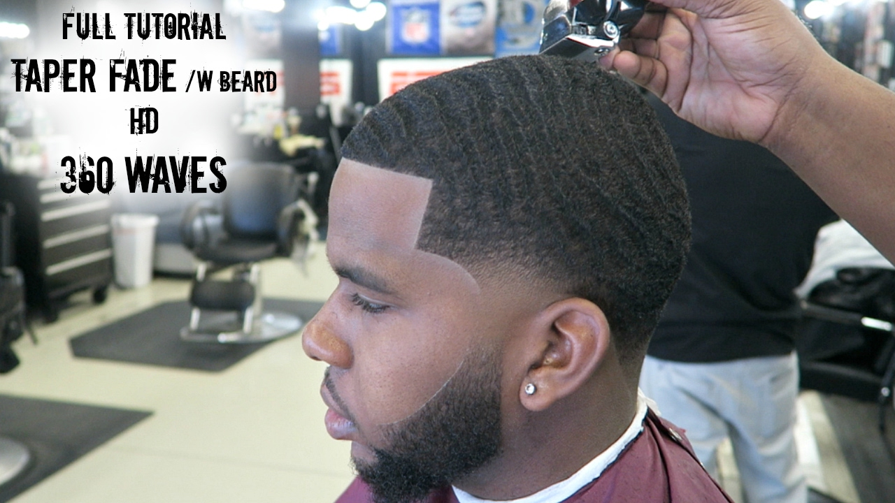 Taper Haircut Black Men Waves 24