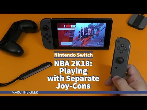 NBA 2K18: Playing With Separate Joy-Cons