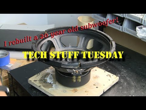 How I Rebuilt A 20 Year Old Subwoofer - Tech Stuff Tuesday