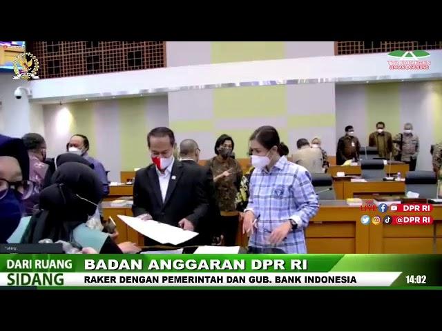 LIVE STREAMING - BANGGAR DPR RI RAPAT KERJA DENGAN PEMERINTAH DAN GUBERNUR BANK INDONESIA