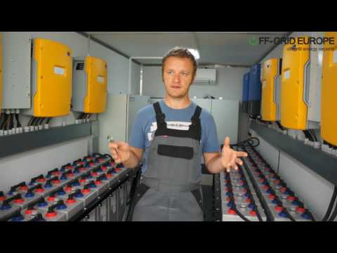 Off-Grid Europe Solar Power Generator Container with aircon inverter and battery