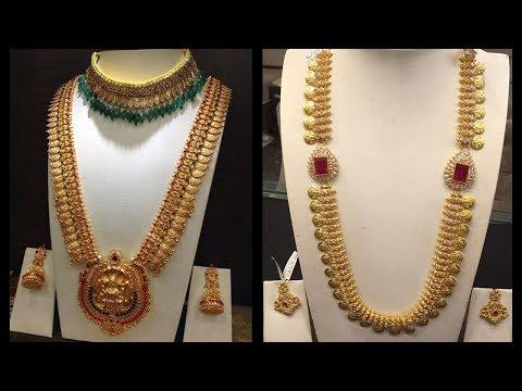 Latest 70 Grams Long Gold Haram Designs - She Fashion