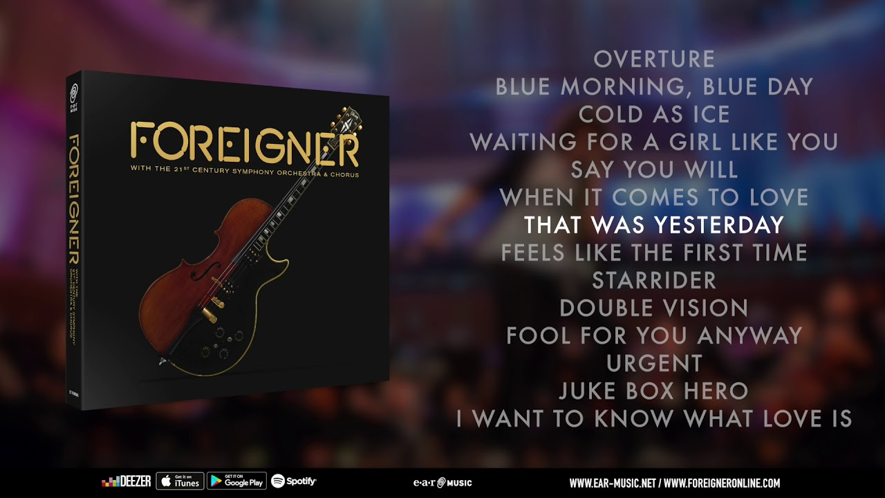 Foreigner with the 21st Century Symphony Orchestra & Chorus ...