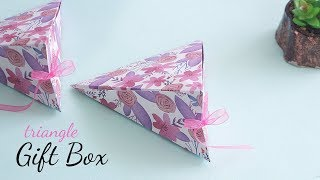 Triangle Gift Box | Box tutorial | Gift Wapping Ideas