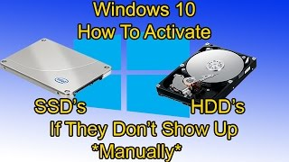 Windows 10 How To Activate New Hard Drives And SSD's Not Showing Up easy!