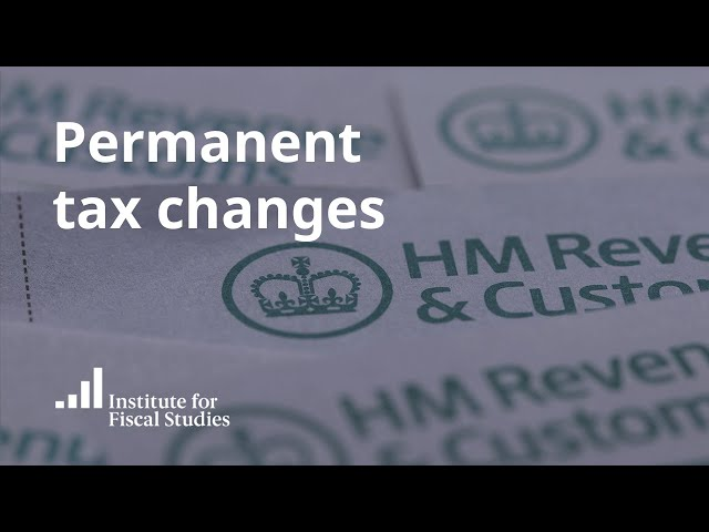 Permanent tax changes | March 2020 Budget