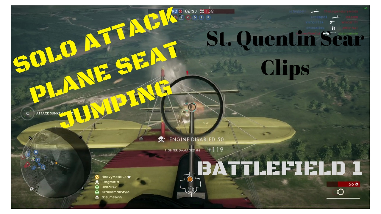 battlefield 1 solo attack plane seat jumping st. Black Bedroom Furniture Sets. Home Design Ideas