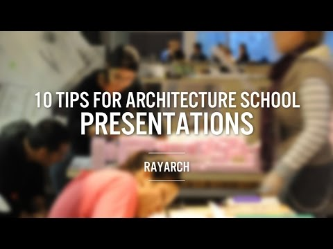 10 Tips for Architecture School Presentation | RayARCH