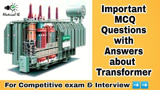 Important MCQ about Transformer l For Competitive exam & Inter…