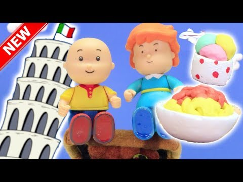 ★NEW★ Caillou Goes ON HOLIDAY  Funny Animated cartoons Kids  Caillou Stop Motion  Cartoon movie