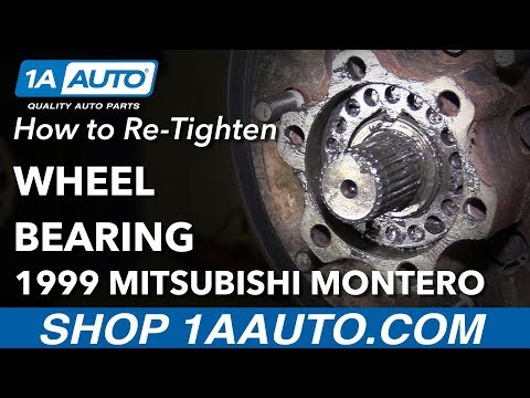How To Re-Tighten Wheel Bearing 92-99 Mitsubishi Montero