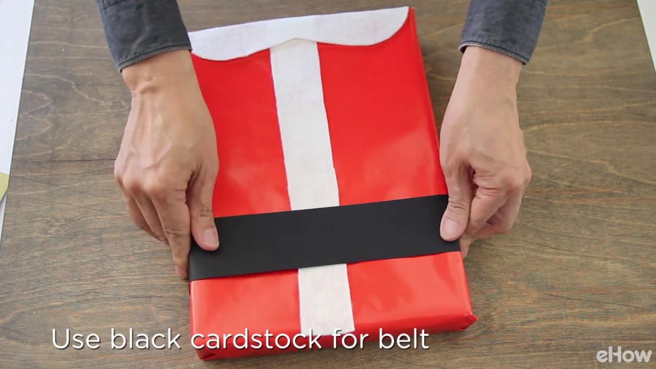 Diy Santa Suit Gift Wrap Youtube