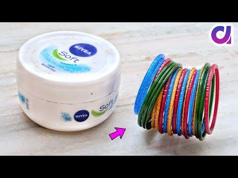 Best out of waste Bangles & Cream Box Craft idea | DIY Home Decor | Artkala