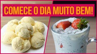 CAFÉ DA MANHÃ FITNESS FÁCIL DE FAZER! | Receitas Fitness Fáceis para um Dia Saudável!