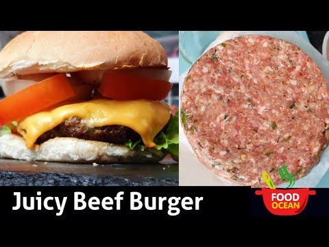 Homemade Juicy Burger Patty Recipe / Tasty Beef Hamburger  Patty Recipe