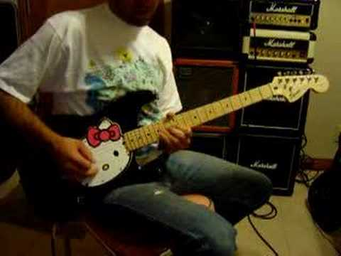 fender squier hello kitty stratocaster electric guitar youtube. Black Bedroom Furniture Sets. Home Design Ideas