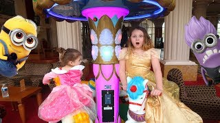 Sisters Pony Ride and Playtime Fun Games At Arcade - Ruby Rube and Bonnie