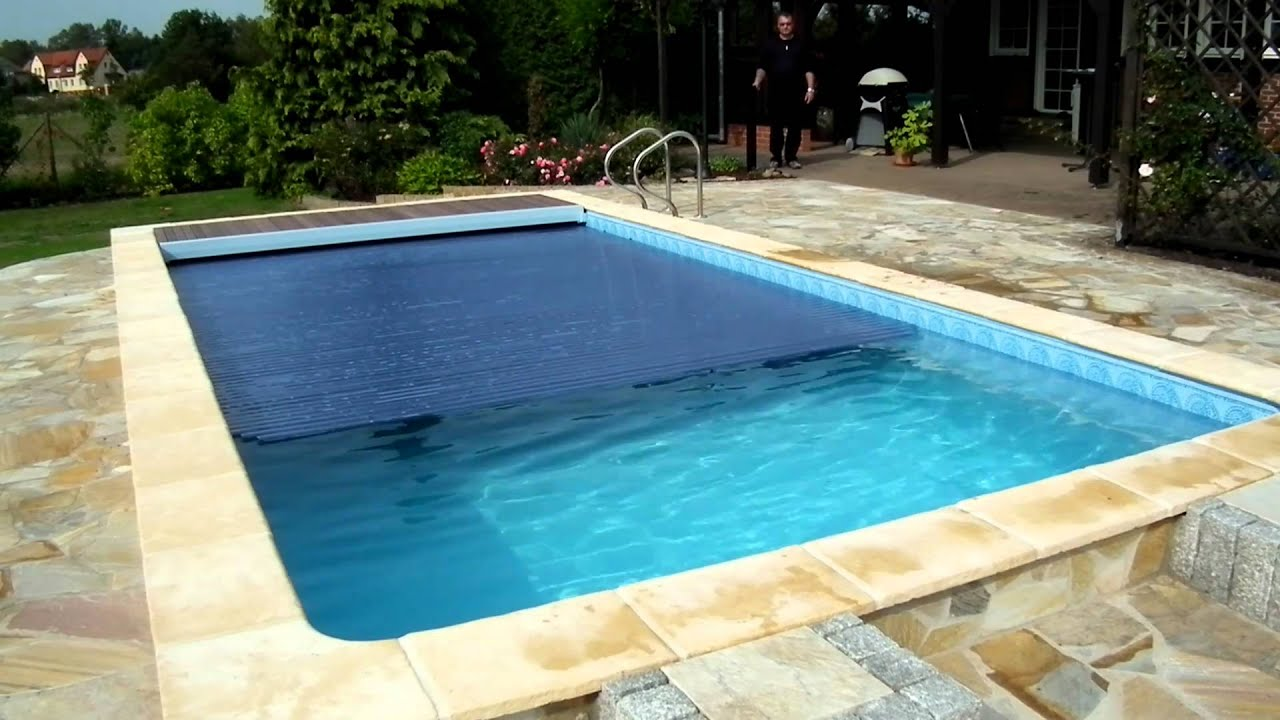 pool das schwimmbad abdeckung auf zu youtube. Black Bedroom Furniture Sets. Home Design Ideas