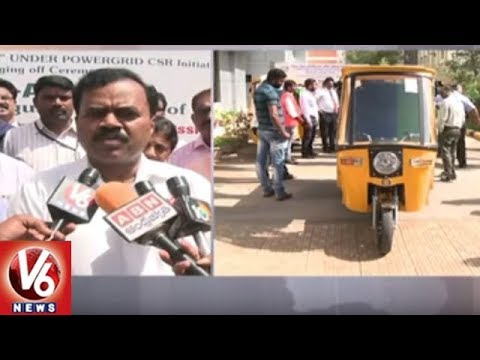 GHMC Commissioner Dana Kishore Launches Swachh E-Autos | Hyderabad | V6 News