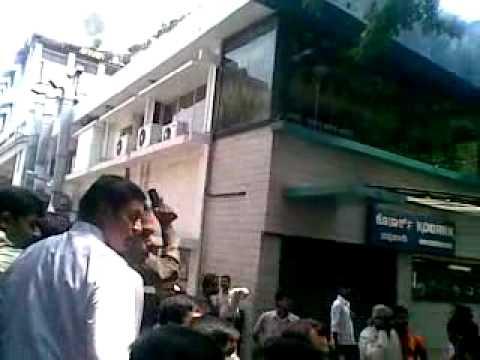 Fire at Konark Hotel on Residency Road. Bangalore