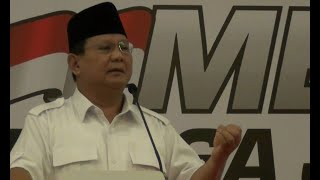 Prabowo: 80% Tanah Indonesia Dikuasai Segelintir Orang
