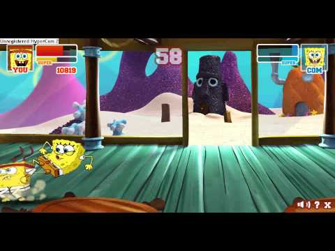 Super Brawl 2 Classic SpongeBob vs SpongeBob  YouTube