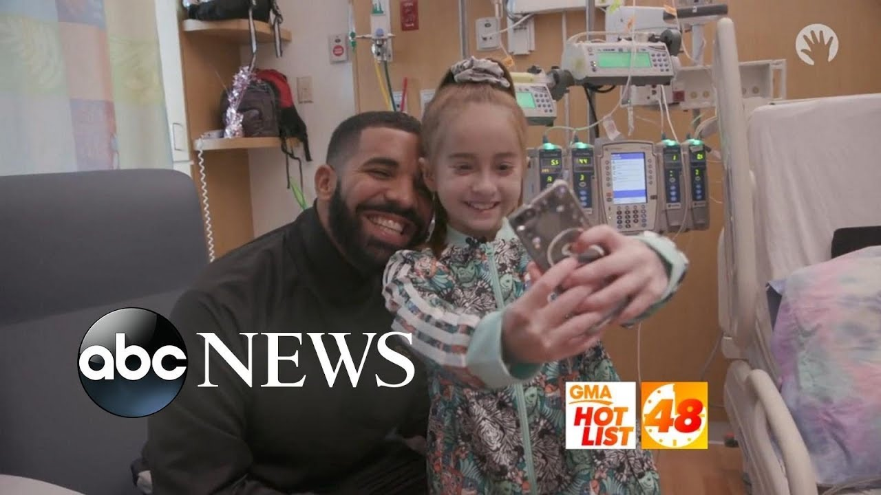 Alyssa Labelle Hot 'gma' hot list: drake surprises a young fan battling cancer in the hospital