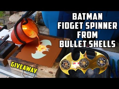 casting-brass-batman-fidget-spinner-from-bullet-shells