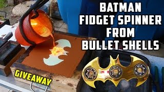 Casting Brass Batman Fidget Spinner from Bullet Shells thumbnail