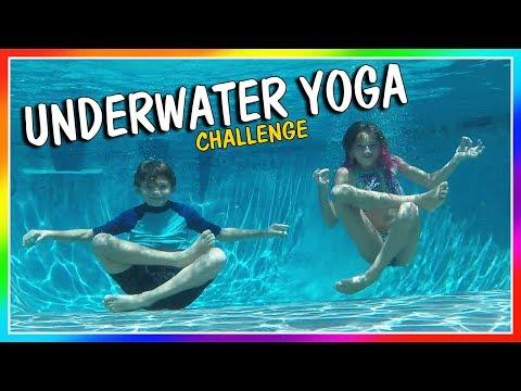 UNDERWATER YOGA CHALLENGE | We Are The Davises