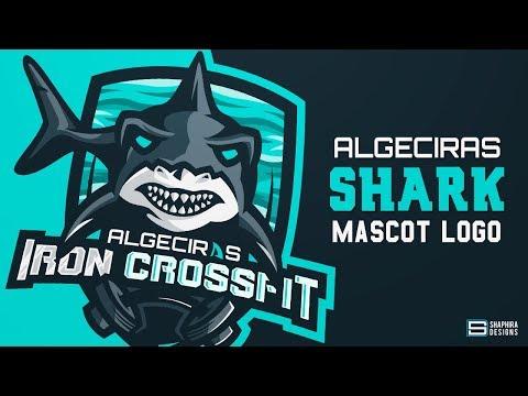 "SPEED-ART "" SHARK "" MASCOT LOGO   By:ShaphiRa"