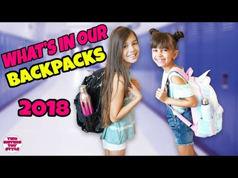 WHAT'S IN OUR BACKPACKS   Back to School 2018
