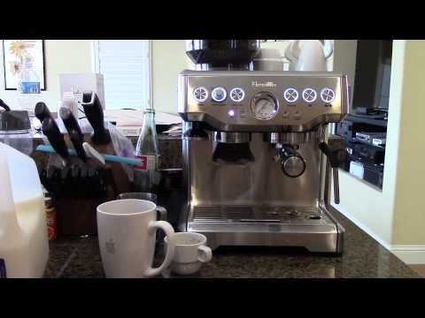 how to make a latte with breville espresso machine