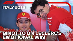 Mattia Binotto Reflects On Ferrari's Home Win At Monza 2019 | F1 Rewind