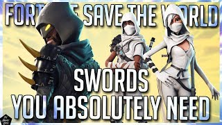 BEST SWORDS IN FORTNITE SAVE THE WORLD! FORTNITE STW BEST WEAPONS!