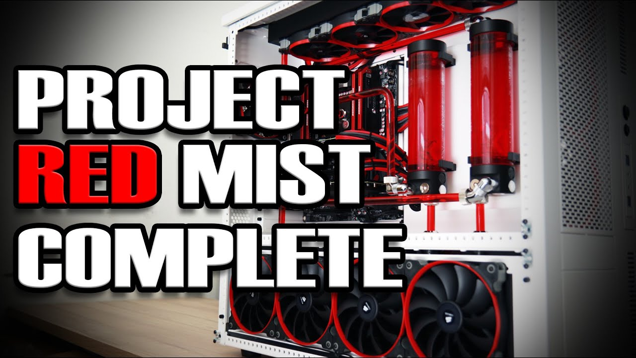 Ultimate Gaming Pc Build Red Mist Is Complete Youtube