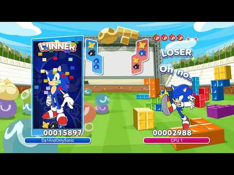 Puyo Puyo Tetris (PC): Sonic the Hedgehog Mod Gameplay (Includes Alt Voice)