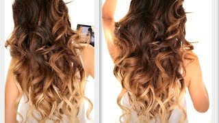 ★ BIG FAT Voluminous CURLS HAIRSTYLE | How To Soft Curl | Ombre Hairstyles