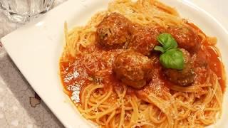 أكلة لذيذة😋كويرات كفتة إيطالية مع SPAGHETTI رائعة المذاق 👍يوم حماس polpette al sugo