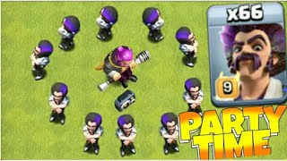 66 Max Party Wizard Attack $ Party Time $ Th12 $ New Troops in Clash of Clans