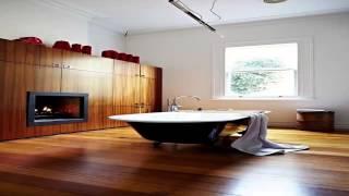 ديكورات حمامات خشبية Decorated Wooden Baths