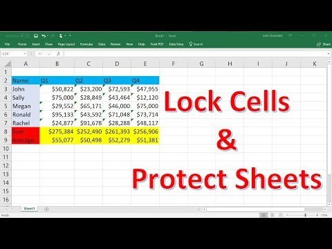 How To Lock Individual Cells and Protect Sheets In Excel