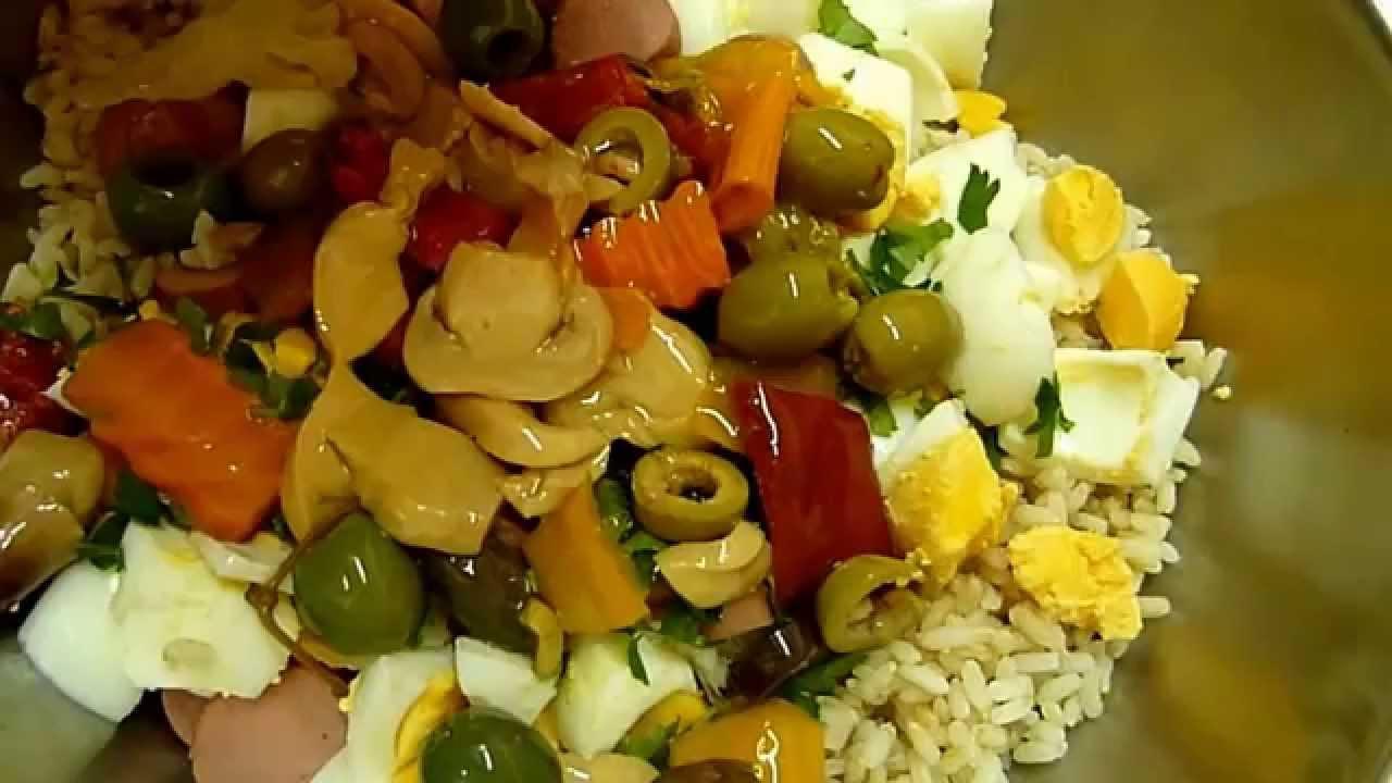 Салат из Риса Итальянский рецепт  Insalata di Riso.