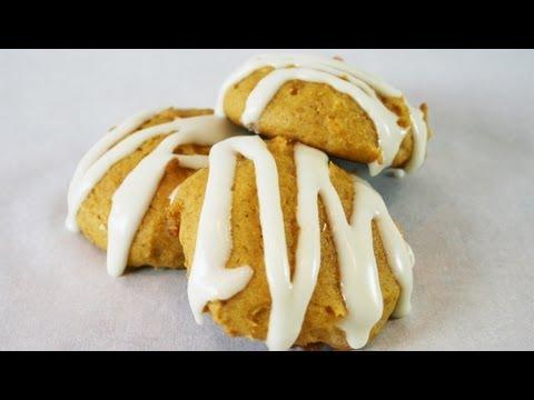 Old-Fashioned Soft Pumpkin Cookies w/Vanilla Glaze recipe