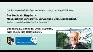 Das Neutralitätsgebot - Vortrag mit Prof. Dr. Friedhelm Hufen